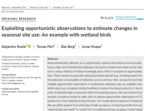 Noggrannare analyser av inrapporterade fågelobservationer